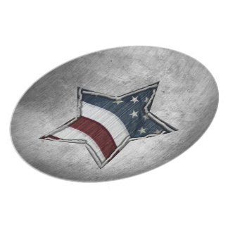 Stars and Bars Plate