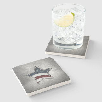 Stars and Bars Stone Coaster