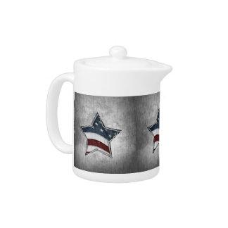 Stars and Bars Tea Pot
