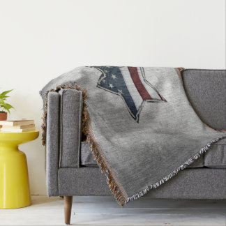Stars and Bars Throw Blanket