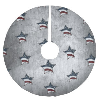 Stars and Bars Tree Skirt