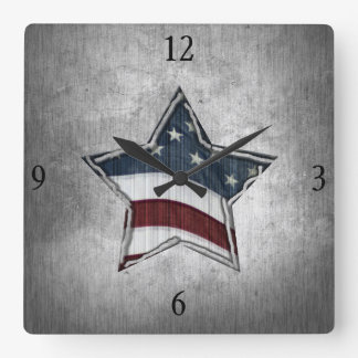 Stars and Bars Wall Clock
