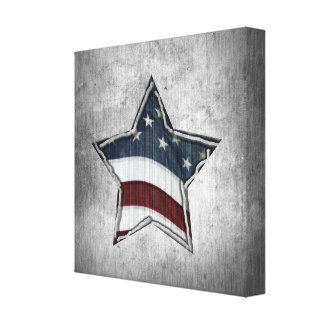 Stars and Bars Wrapped Canvas