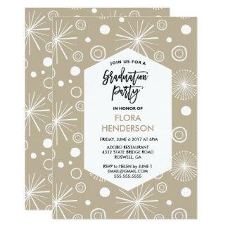 Stars and Confetti Graduation Party Invitation