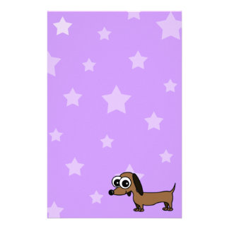 Stars and Dachshund Stationery