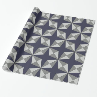 Stars and Diamonds any Color Geometric Pattern Wrapping Paper