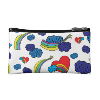 Stars and hearts makeup bags