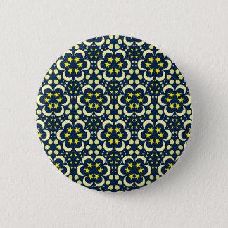 Stars and moon tessellation 6 cm round badge