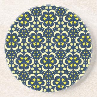 Stars and moon tessellation coaster