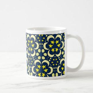 Stars and moon tessellation coffee mug