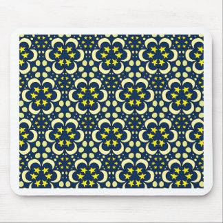 Stars and moon tessellation mouse pad