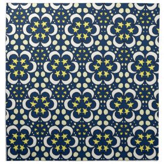 Stars and moon tessellation napkin