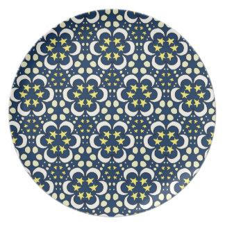 Stars and moon tessellation plate