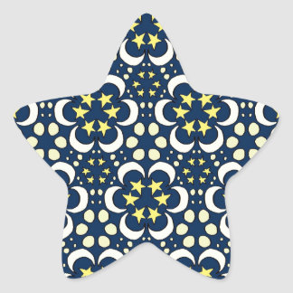Stars and moon tessellation star sticker