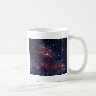 Stars and nebula basic white mug