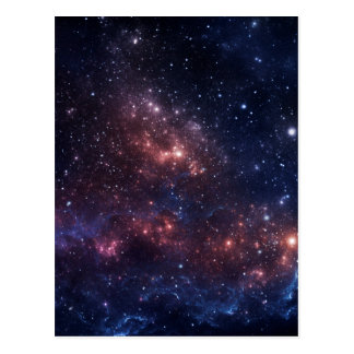Stars and nebula postcard