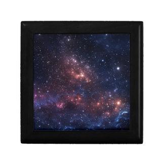 Stars and nebula small square gift box