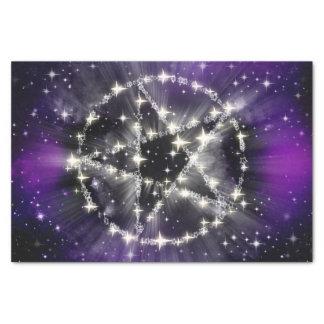 Stars and pentagram tissue paper