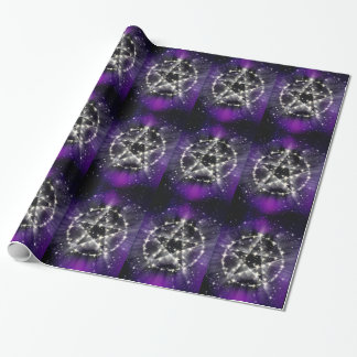Stars and pentagram wrapping paper