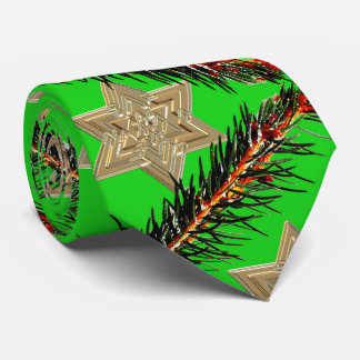 Stars and pines Christmas time Tie