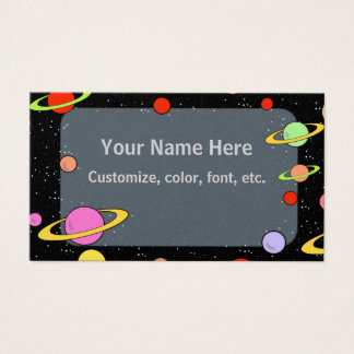 STARS AND PLANETS BUSINESS CARD