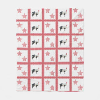 Stars And Roosters Country Decor Throw Blanket