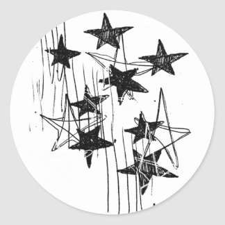 Stars and Scribbles Classic Round Sticker