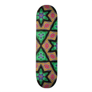Stars and shapes abstract pattern skate boards