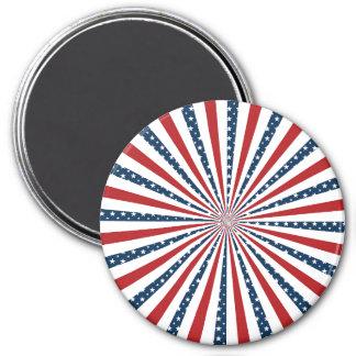 Stars and Stripes 7.5 Cm Round Magnet