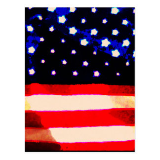 Stars and Stripes Abstract Postcard
