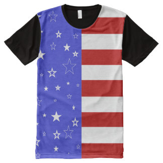 stars and stripes All-Over print T-Shirt