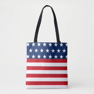 Stars and Stripes American Flag Patriotic Tote Bag