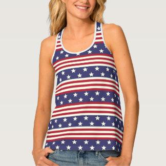 Stars and Stripes American Flag USA Patriotic Singlet