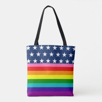 Stars and Stripes American Gay Patriot Pride Flag Tote Bag