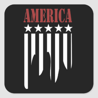 Stars and Stripes American Sticker