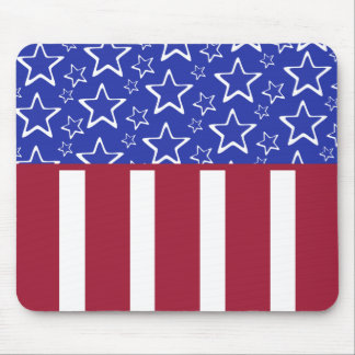 Stars And Stripes Americana Mousepad