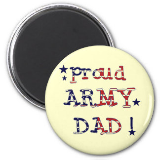 Stars and Stripes Army Dad Tshirts and Gifts 6 Cm Round Magnet
