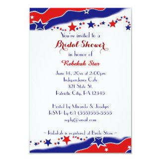 Stars and Stripes Bridal Shower 9 Cm X 13 Cm Invitation Card
