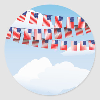 Stars And Stripes Bunting Stickers
