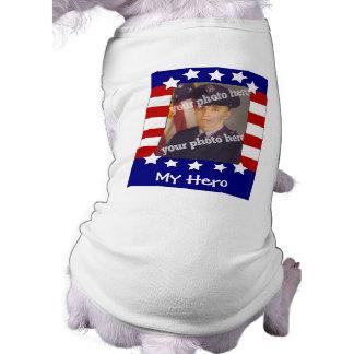 Stars and Stripes Custom Photo Patriotic Dog Shirt
