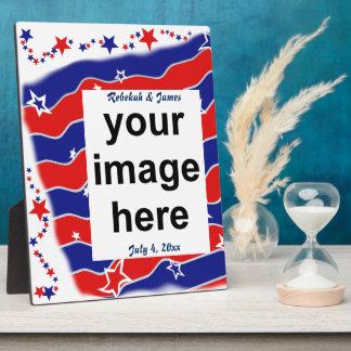 Stars and Stripes Custom Photo Display Plaque