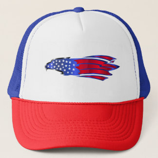 Stars And Stripes Eagle Trucker Hat