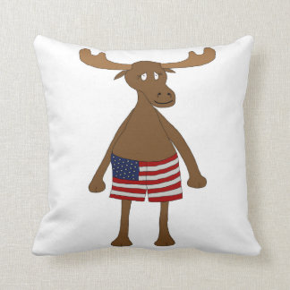 Stars and Stripes, Eh? Throw Pillow