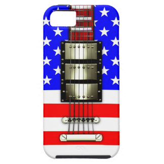 Stars and Stripes Electric Guitar Case For The iPhone 5