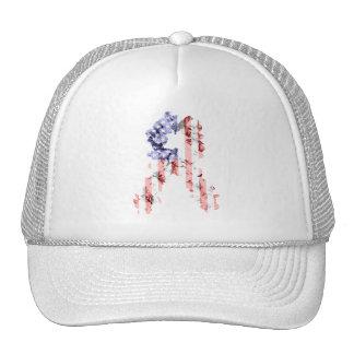 Stars and Stripes Flower Ribbon Mesh Hat