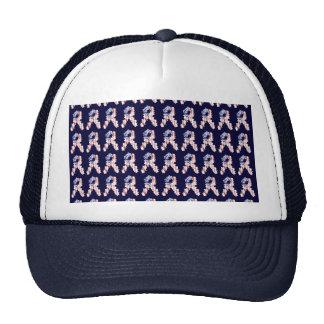 Stars and Stripes Flower Ribbon Pattern Mesh Hats