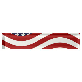 STARS AND STRIPES FOREVER! (American flag design) Desk Nameplate