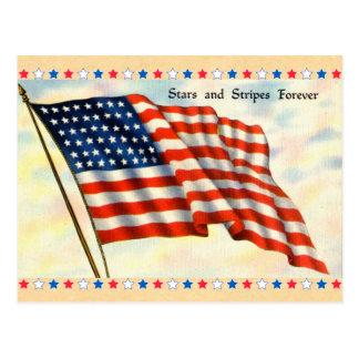 Stars and Stripes Forever Postcard