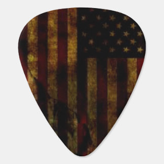 Stars and Stripes Grunge Guitar Pick