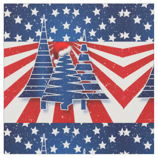 Stars and Stripes Holiday in Red White and Blue Fabric